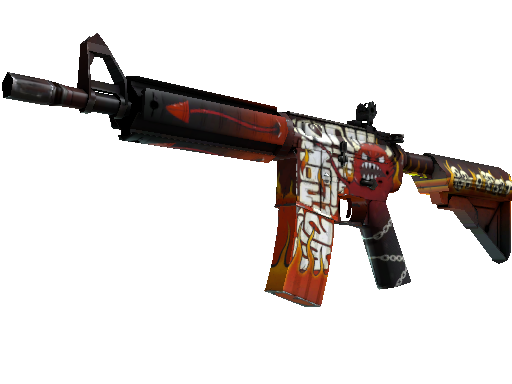 StatTrak™ M4A4 | Hellfire (Battle-Scarred)