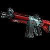 M4A4 | Bullet Rain <br>(Minimal Wear)