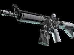 M4A4 | Пиксельный камуфляж «Город» (Немного поношенное)