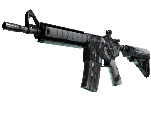 Скин M4A4 | Пиксельный камуфляж «Город» (Поношенное)