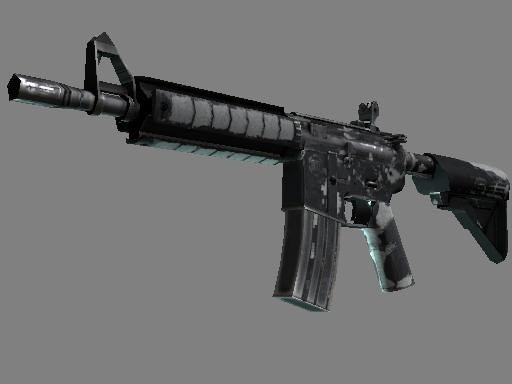 Скин M4A4 | Пиксельный камуфляж «Город» (Закаленное в боях)