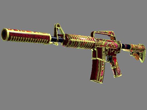 Скин M4A1-S | Огонь Чантико (Немного поношенное)