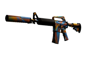 M4a1 S Leaded Glass Battle Scarred