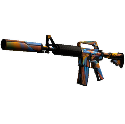 M4A1-S | Leaded Glass (Well-Worn)