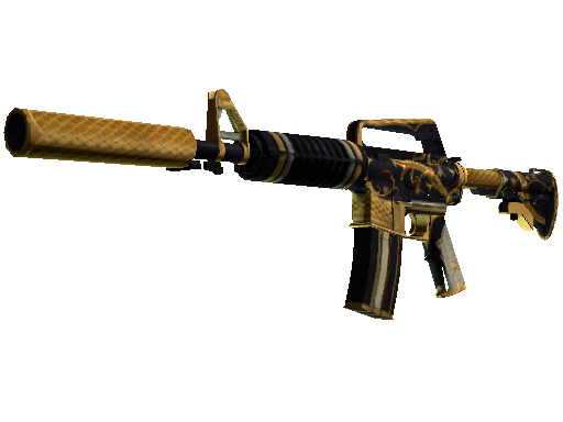 CSGO skin StatTrak™ M4A1-S | Golden Coil (Well-Worn) on sale for 25.52