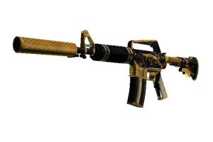 M4a1 S Golden Coil Well Worn
