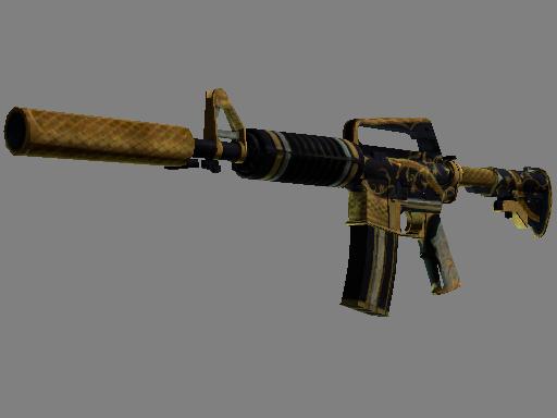 Скин M4A1-S | Золотая спираль (Закаленное в боях)