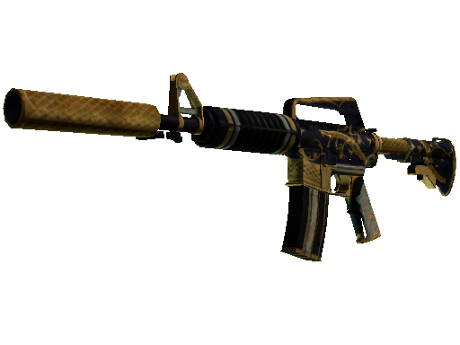 M4A1-S | Golden Coil Battle-Scarred