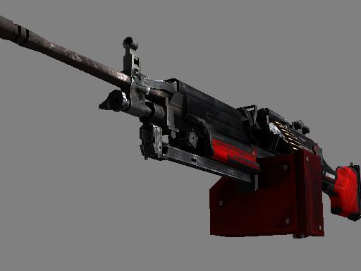 Скин StatTrak™ M249 | Блокировка (Закалённое в боях)
