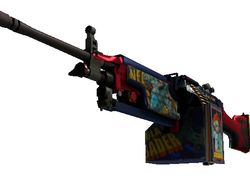 StatTrak™ M249 | Nebula Crusader (Battle-Scarred)
