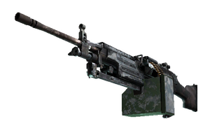 M249 Blizzard Marbleized Battle Scarred