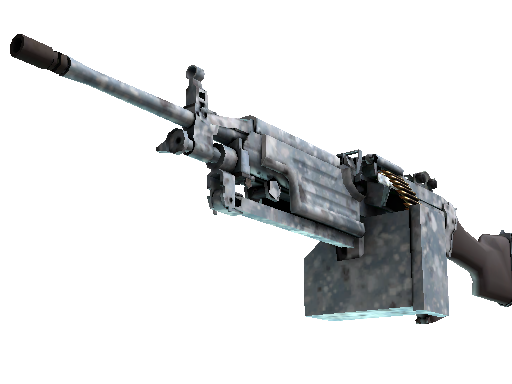 Скин M249   Мраморный буран (Немного поношенное)