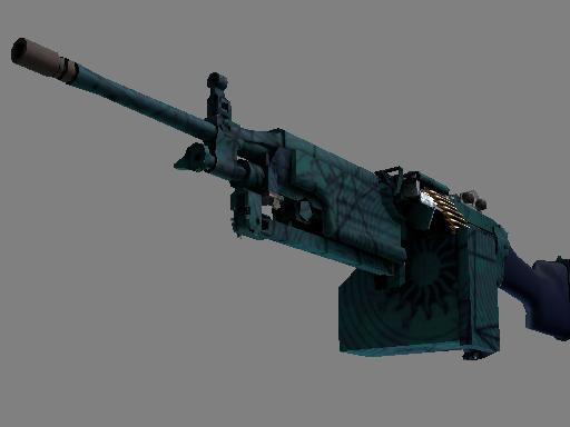 Скин M249 | Приморский прогноз (Немного поношенное)