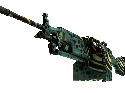 StatTrak™ M249 | Emerald Poison Dart (Well-Worn)