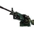 StatTrak™ M249 | Emerald Poison Dart <br>(Well-Worn)