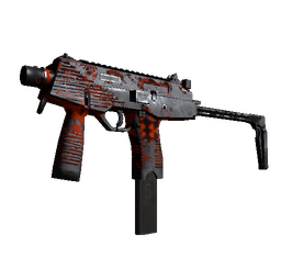 MP9 | Setting Sun (Battle-Scarred)