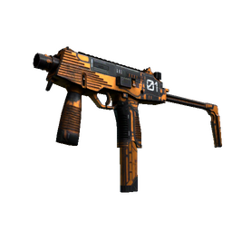 StatTrak™ MP9 | Modest Threat (Well-Worn)