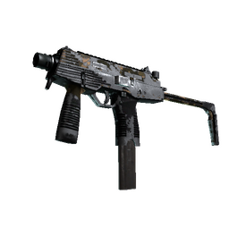 StatTrak™ MP9 | Black Sand (Battle-Scarred)