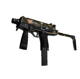 MP9 | Black Sand (Well-Worn)