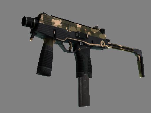Скин StatTrak™ MP9 | Чёрный песок (Немного поношенное)