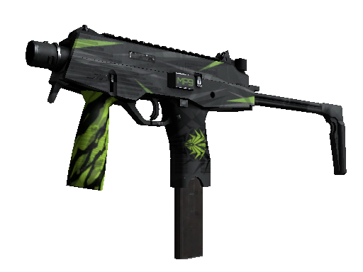 MP9 | Deadly Poison Well-Worn