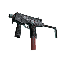 MP9 | Capillary (Battle-Scarred)