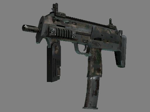 Скин MP7 | Пиксельный камуфляж «Лес» (Закаленное в боях)