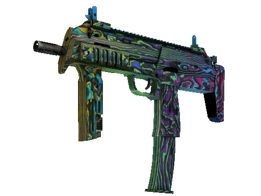 StatTrak™ MP7 | Neon Ply (Battle-Scarred)