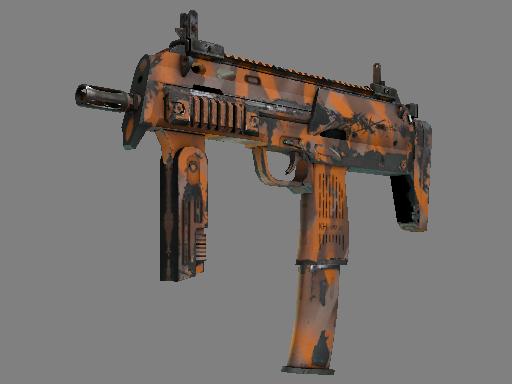 Скин Сувенирный MP7 | Апельсиновая корка (Поношенное)