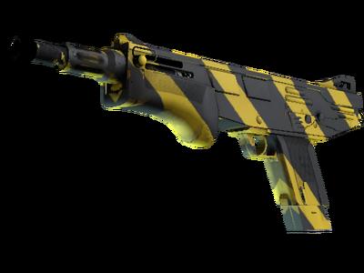 MAG-7 | Желто-черные полосы (Немного поношенное)