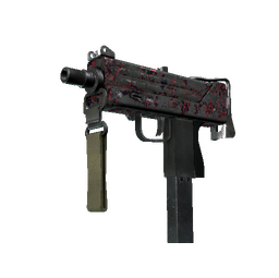 MAC-10 | Red Filigree (Battle-Scarred)
