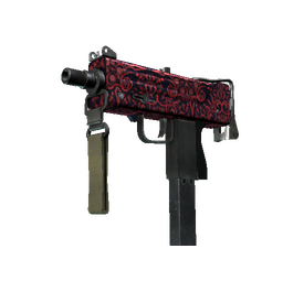 MAC-10 | Red Filigree (Well-Worn)