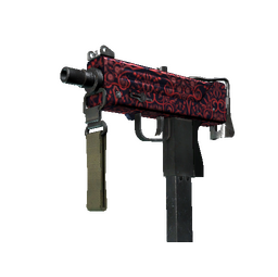 MAC-10 | Red Filigree (Field-Tested)