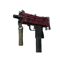 MAC-10 | Red Filigree (Minimal Wear)