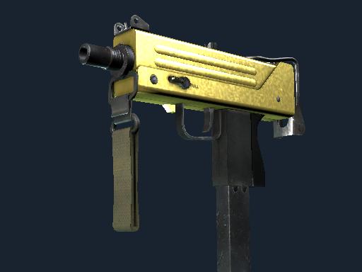 MAC-10 | Gold Brick (Battle-Scarred)