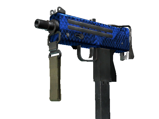StatTrak™ MAC-10 | Lapis Gator (Battle-Scarred)
