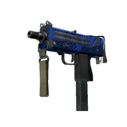 StatTrak™ MAC-10 | Lapis Gator (Well-Worn)