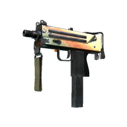 MAC-10 | Amber Fade (Well-Worn)
