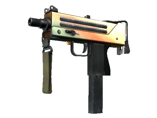 Souvenir MAC-10 | Amber Fade (Well-Worn)
