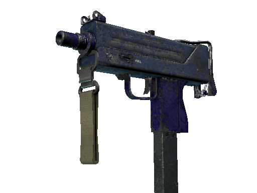 MAC-10 | Indigo Battle-Scarred