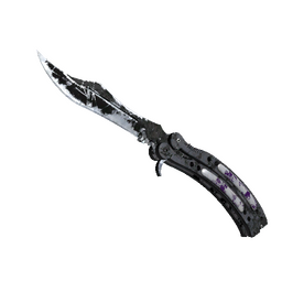 ★ StatTrak™ Butterfly Knife | Ultraviolet (Battle-Scarred)