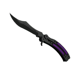 ★ StatTrak™ Butterfly Knife | Ultraviolet (Minimal Wear)