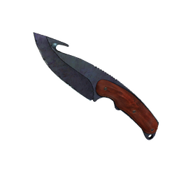 ★ StatTrak™ Gut Knife | Blue Steel (Well-Worn)