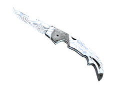 Skin Falchion Knife | Damascus Steel