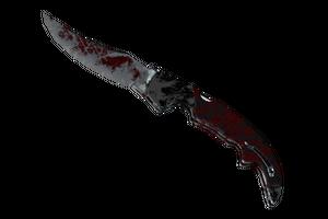 Falchion Knife Crimson Web Battle Scarred