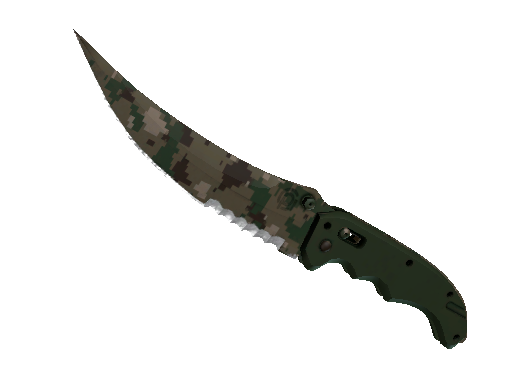 ★ StatTrak™ Flip Knife | Forest DDPAT (Battle-Scarred)