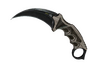 ★ StatTrak™ Karambit | Black Laminate (Well-Worn)