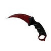 ★ Karambit | Crimson Web <br>(Well-Worn)
