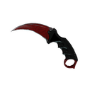 ★ StatTrak™ Karambit | Crimson Web <br>(Well-Worn)
