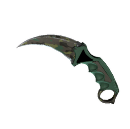 ★ StatTrak™ Karambit | Boreal Forest (Well-Worn)